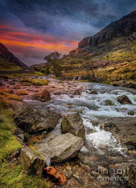 Photograph - Nant Peris Pass Sunset by Adrian Evans