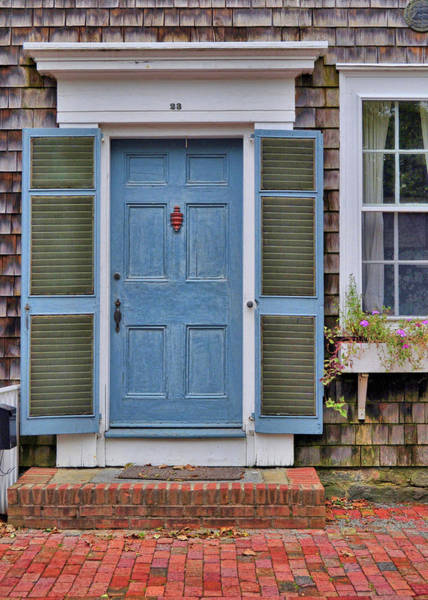 Photograph - Nantucket Blue Door by JAMART Photography