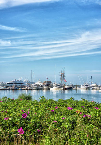 Wall Art - Photograph - Nantucket Boat Basin And Harbor - Massachusetts by Brendan Reals