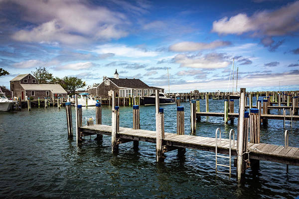Photograph - Architecture In Nantucket Harbor Series 6610 by Carlos Diaz