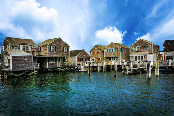 Photograph - Architecture In Nantucket Harbor Series 6632 by Carlos Diaz