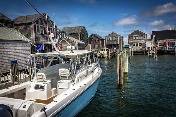 Photograph - Boat In Nantucket Harbor Series 6637 by Carlos Diaz