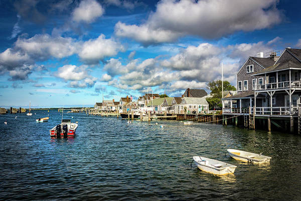 Photograph - Boats In Nantucket Harbor Series 7163 by Carlos Diaz