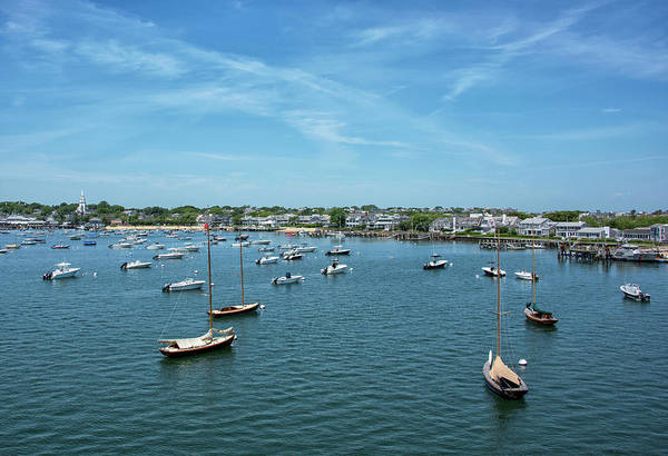 Wall Art - Photograph - Nantucket Island - Nantucket Boat Basin And Harbor - Massachusetts by Brendan Reals