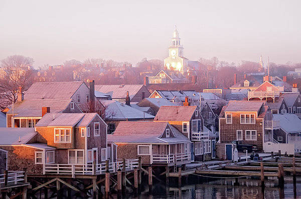 Nantucket Photograph - Nantucket Sunrise Townscape by J. Greg Hinson, Md, Www.ackdoc.com