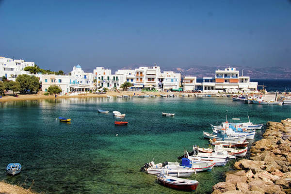 Harbour Island Photograph - Naousa Fishing Village In Paros Greece by David Smith