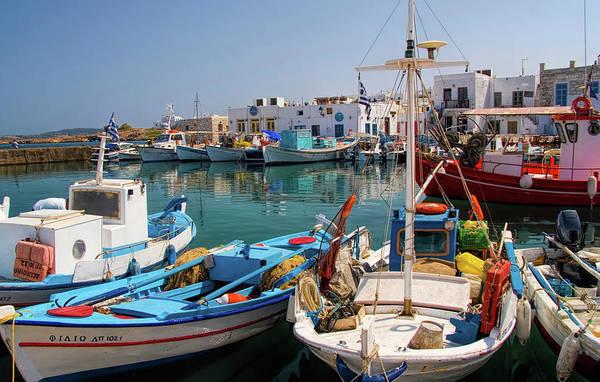 Harbour Island Photograph - Naousa Harbor In Paros Greece by David Smith