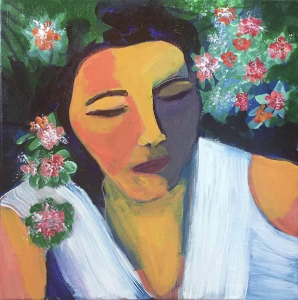 Painting - Nap In The Garden by Cherylene Henderson