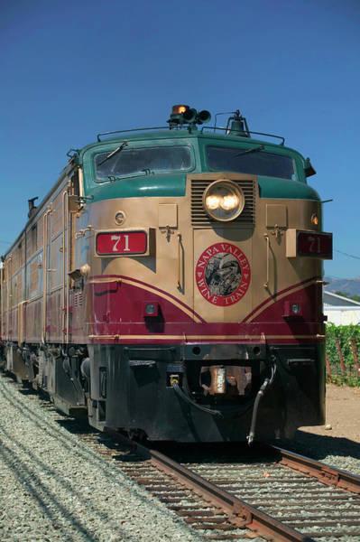 Napa Valley Photograph - Napa Valley Wine Train, St Helena, Napa by Danita Delimont