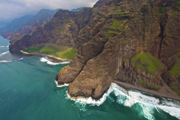 Photograph - Napali Coast Aerial Kauai by Steven Lapkin