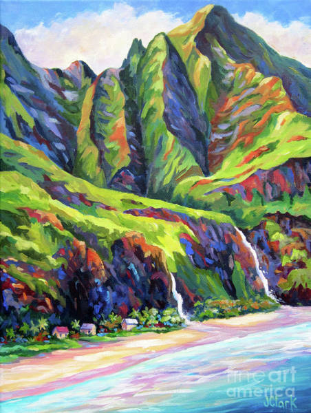 Tunnel Painting - Napali Coast Evening Colours by John Clark