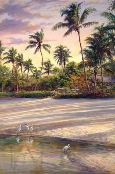 Coconut Painting - Naples Sunrise by Laurie Snow Hein