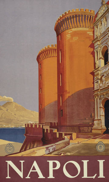 Wall Art - Mixed Media - Naples Travel Poster by Library Of Congress