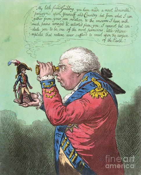 Drawing - Napoleon And George IIi, 1803 by James Gillray