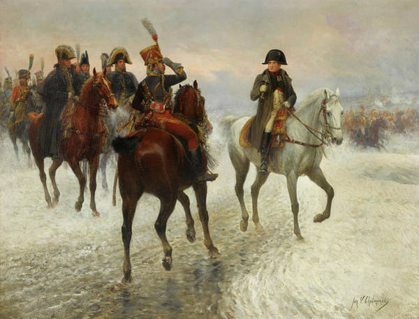 Wall Art - Painting - Napoleon And Prince Poniatowki's Army During The Russian Campaign by Jan van Chelminski