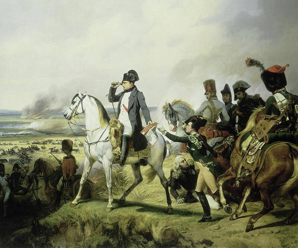 Wall Art - Painting - Napoleon At Battle Of Wagram, 1809 by Horace Vernet