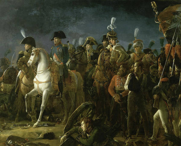 Wall Art - Painting - Napoleon At The Battle Of Austerlitz by Francois Gerard
