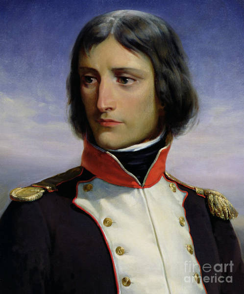 Wall Art - Painting - Napoleon Bonaparte As Lieutenant Colonel Of The 1st Battalion Of Corsica, 1834  by Felix Philippoteaux