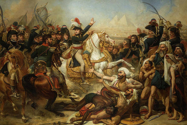 Wall Art - Painting - Napoleon Bonaparte Haranguing The Army Before The Battle Of The Pyramids, 1798 by Antoine-Jean Gros