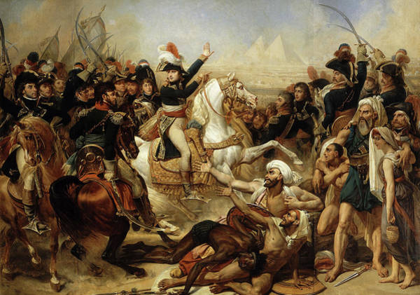 Wall Art - Painting - Napoleon Bonaparte Haranguing The Army Before The Battle Of The Pyramids by Antoine-Jean Gros