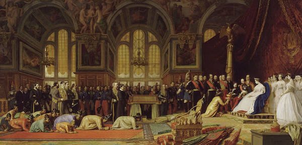 Wall Art - Painting - Napoleon I I I Receiving The Siamese Embassy At The Palace Of Fo by Jean-Leon Gerome