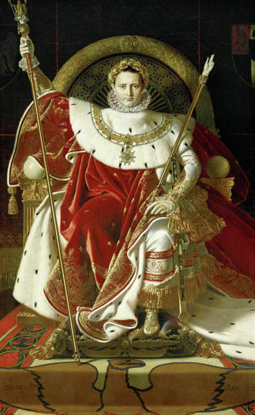 Wall Art - Painting - Napoleon On His Imperial Throne, 1806 by Jean-Auguste-Dominique Ingres