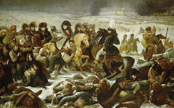 Wall Art - Painting - Napoleon On The Battlefield Of Eylau, 1807 by Baron Antoine-Jean Gros