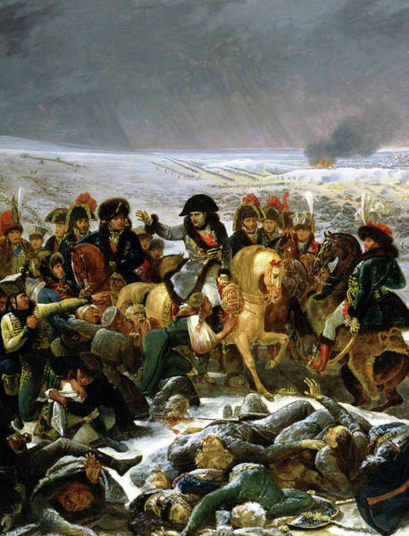 Wall Art - Painting - Napoleon On The Battlefield Of Eylau, 1807, Detail by Antoine-Jean Gros