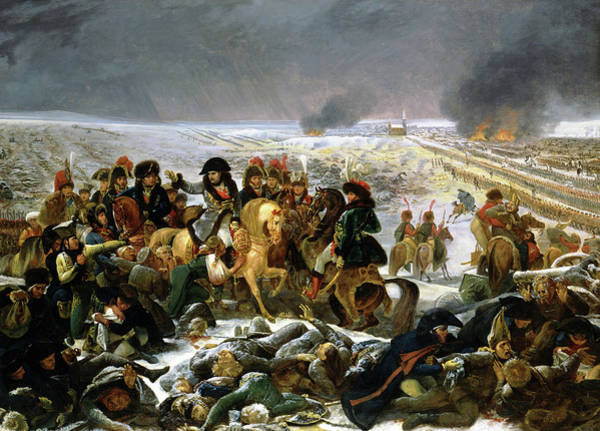 Wall Art - Painting - Napoleon On The Battlefield Of Eylau, 1808 by Antoine-Jean Gros
