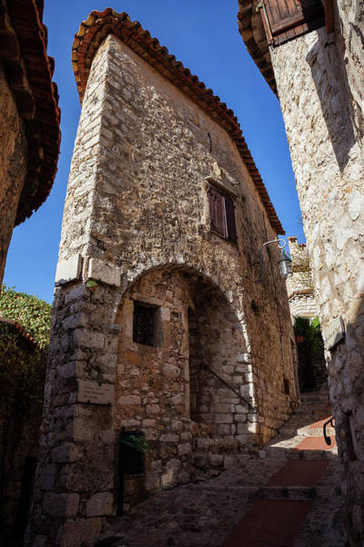 Wall Art - Photograph - Narrow House In Medieval Eze Village In France by Artur Bogacki