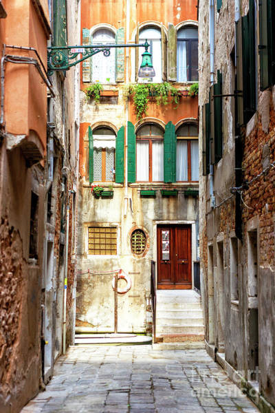 Photograph - Narrow Street Venice by John Rizzuto