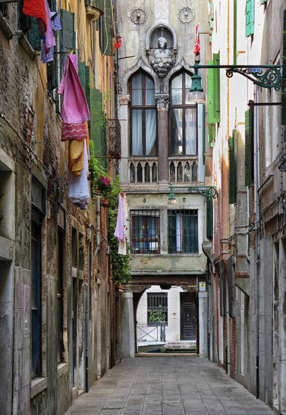 Wall Art - Photograph - Narrow Venice Street by Dave Mills