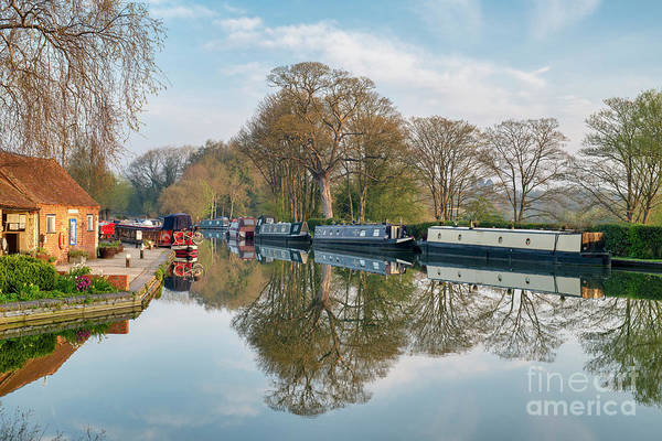 Wall Art - Photograph - Narrowboats At Thrupp by Tim Gainey