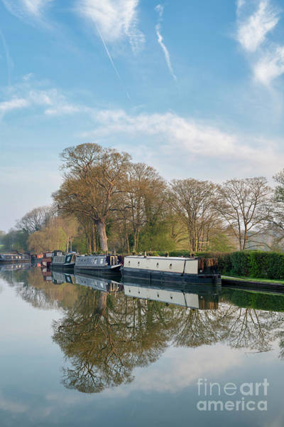 Wall Art - Photograph - Narrowboats On The Oxford Canal At Thrupp by Tim Gainey