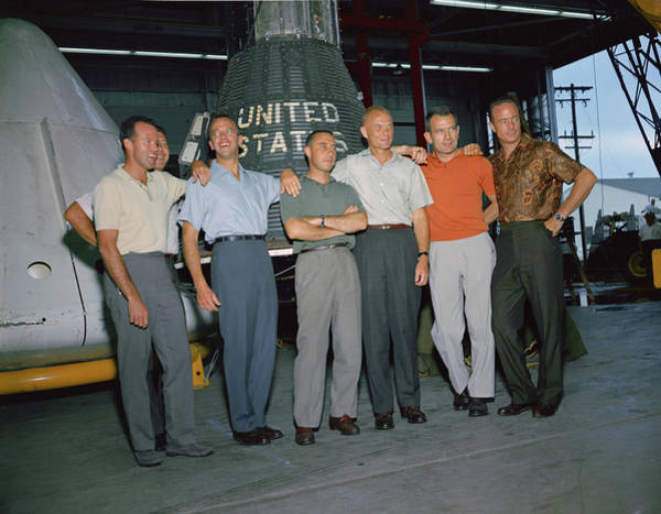 Wall Art - Photograph - Nasa Announces Original Seven Mercury by Science Source