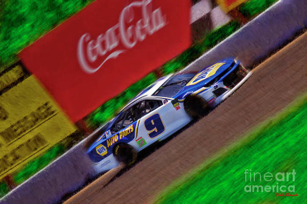 Photograph - Nascar Chase Elliott  2019  Chevrolet Camaro Zl1  by Blake Richards