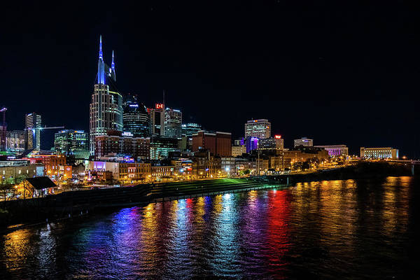 Photograph - Nashville At Night by Rod Best