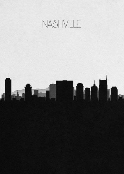 Capitol Digital Art - Nashville Cityscape Art by Inspirowl Design