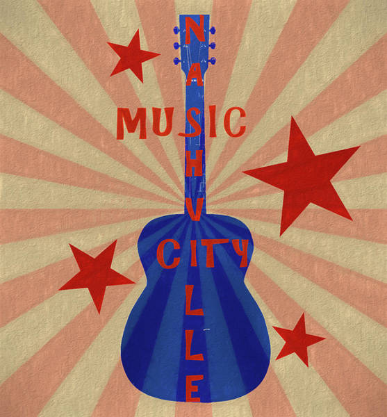 Mixed Media - Nashville Music City Pop Art by Dan Sproul