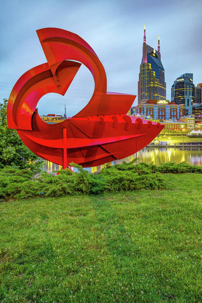 Wall Art - Photograph - Nashville Skyline And Sculpture From East Bank Greenway by Gregory Ballos