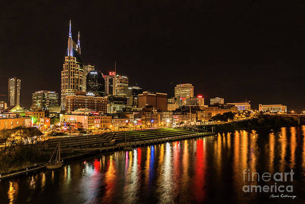 Wall Art - Photograph - Nashville Skyline Nite Lites 2 Broadway Street Cityscape Art by Reid Callaway
