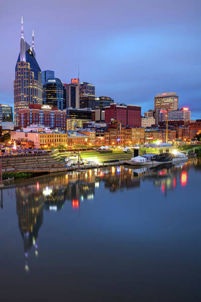 Photograph - Nashville Skyline On The Cumberland River by Gregory Ballos