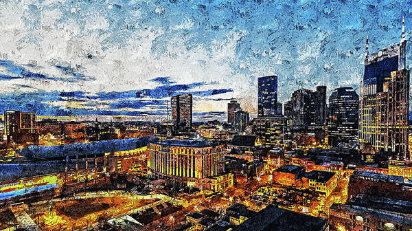 Painting - Nashville, Tennessee - 01 by Andrea Mazzocchetti