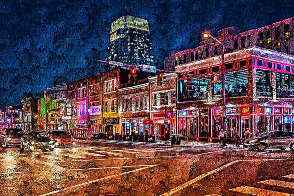 Painting - Nashville, Tennessee - 03 by Andrea Mazzocchetti