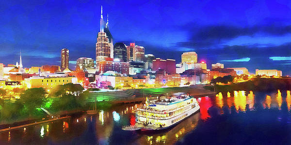 Painting - Nashville, Tennessee - 04 by Andrea Mazzocchetti