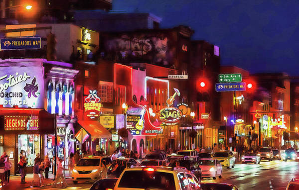 Painting - Nashville, Tennessee - 09 by Andrea Mazzocchetti