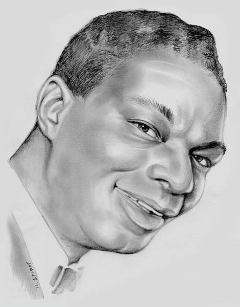 Pencil Drawing - Nat King Cole by Greg Joens
