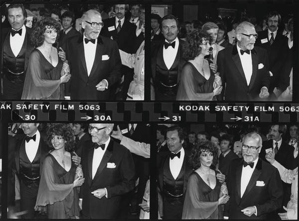Photograph - Natalie Wood Arrives At Tribute For Sir by George Rose