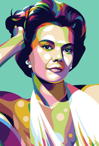 Pop Star Digital Art - Natalie Wood by Stars-on- Art