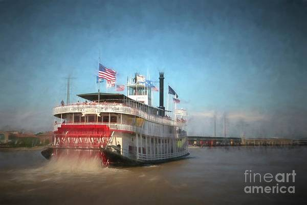 Paddle Digital Art - Natchez Steamboat In New Orleans by Patricia Hofmeester